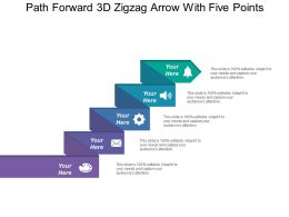 Path Forward 3d Zigzag Arrow With Five Points