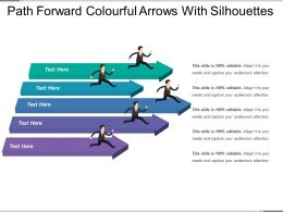 path_forward_colourful_arrows_with_silhouettes_Slide01