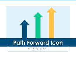 Path Forward Icon Business Growth Revenue Arrow Movement Increase