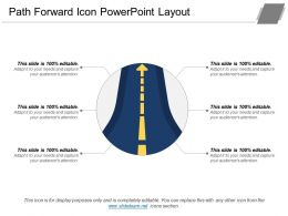 Path Forward Icon Powerpoint Layout