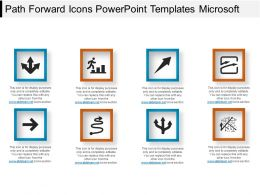 Path Forward Icons Powerpoint Templates Microsoft