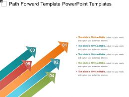 Path Forward Template Powerpoint Templates