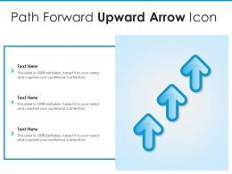 Path Forward Upward Arrow Icon
