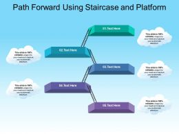 Path Forward Using Staircase And Platform