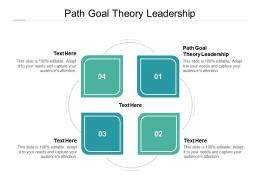 Path Goal Theory Leadership Ppt Powerpoint Presentation Inspiration Ideas Cpb
