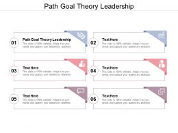 Path Goal Theory Leadership Ppt Powerpoint Presentation Summary Structure Cpb