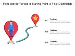 Path Icon For Person At Starting Point To Final Destination