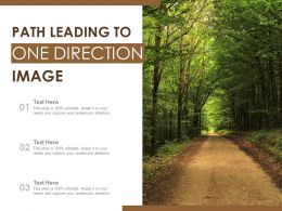Path Leading To One Direction Image