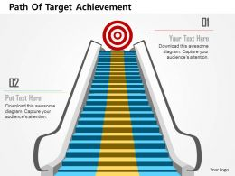 Path Of Target Achievement Flat Powerpoint Design