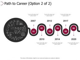Path To Career Big Data Ppt Powerpoint Presentation Infographics Design Ideas