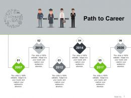 Path To Career Powerpoint Slide Download