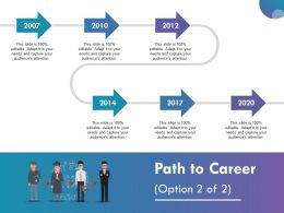 Path To Career Ppt Infographic Template