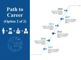 Path To Career Ppt Infographics Deck