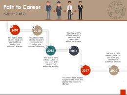 Path To Career Ppt Model
