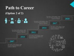 Path To Career Ppt Slides