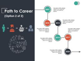 Path To Career Ppt Summary Background Designs