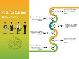 Path To Career Presentation Powerpoint Example