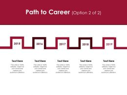 Path To Career Roadmap D224 Ppt Powerpoint Presentation Infographic Template Styles