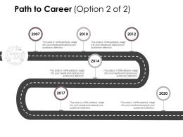 Path To Career Roadmap Ppt Powerpoint Presentation File Structure