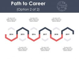 Path To Career Roadmap Years Ppt Powerpoint Presentation Ideas Objects