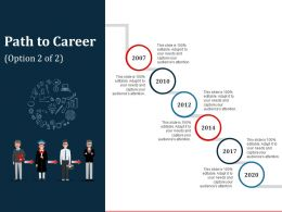 Path To Career Sample Of Ppt Presentation