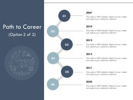 Path To Career Timeline Six Year Process E169 Ppt Powerpoint Presentation Slides Show