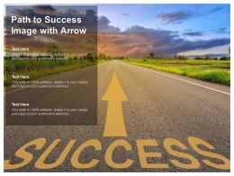 Path To Success Image With Arrow
