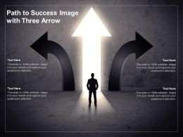 Path To Success Image With Three Arrow