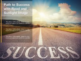 Path To Success With Road And Sunlight Image