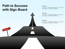 Path To Success With Sign Board