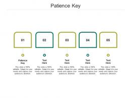 Patience Key Ppt Powerpoint Presentation Model Background Cpb