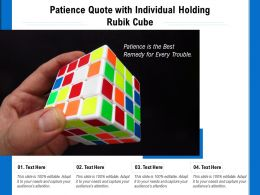 Patience Quote With Individual Holding Rubik Cube