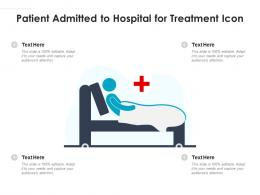 Patient Admitted To Hospital For Treatment Icon
