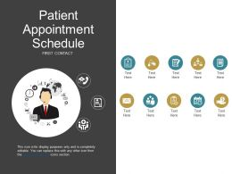 Patient Appointment Schedule Ppt Example File