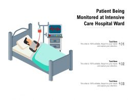 Patient Being Monitored At Intensive Care Hospital Ward