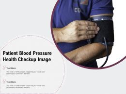 Patient Blood Pressure Health Checkup Image