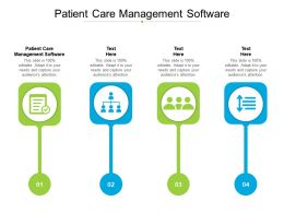 Patient Care Management Software Ppt Powerpoint Presentation Slides Portfolio Cpb