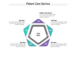 Patient Care Service Ppt Powerpoint Presentation Layouts Mockup Cpb
