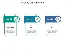 Patient Care System Ppt Powerpoint Presentation Pictures Slide Download Cpb