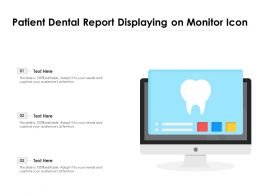 Patient Dental Report Displaying On Monitor Icon