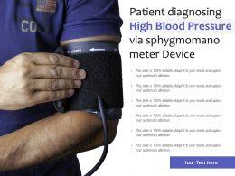 Patient Diagnosing High Blood Pressure Via Sphygmomano Meter Device