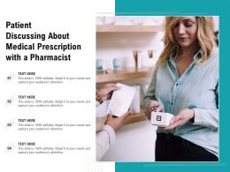 Patient Discussing About Medical Prescription With A Pharmacist