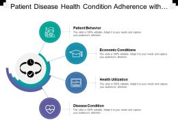 Patient Disease Health Condition Adherence With Icon In Center
