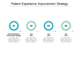 Patient Experience Improvement Strategy Ppt Powerpoint Presentation Slides Vector Cpb