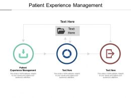 Patient Experience Management Ppt Powerpoint Presentation Summary Graphics Pictures Cpb
