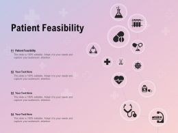 Patient Feasibility Ppt Powerpoint Presentation Slides Graphic Images