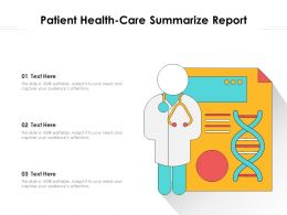 Patient Health Care Summarize Report