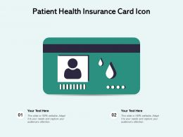 Patient Health Insurance Card Icon