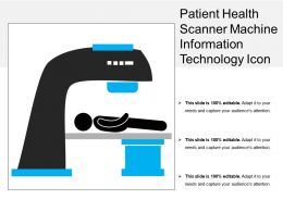 Patient Health Scanner Machine Information Technology Icon