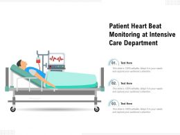 Patient Heart Beat Monitoring At Intensive Care Department